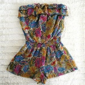 Fire Los Angeles Strapless Romper Size Medium